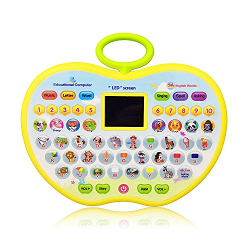 Learning Toys for 3 Year Olds Girl, Educational Toys for 1-4 Year Old Boys Baby Kids Tablet Toys for 2 Year Old Girl Apple Computer Toy for 6-18 Months Toddler Toy Gift for 9-24 Months Girls