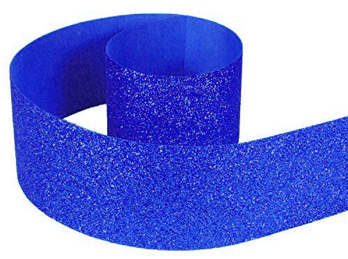"HipGirl Glitter Sparkle Ribbon for Hair Bows, Cheer Bows, Dance, Floral Designs, Gift Wrapping, Sewing… (3"" x 10yd, Royal)"