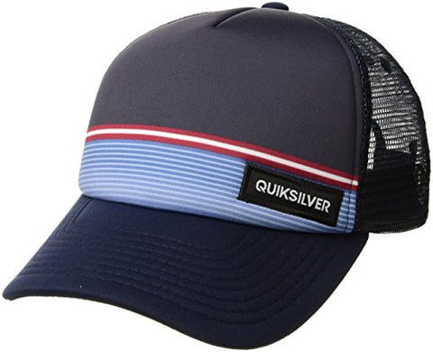Quiksilver Big Boys' Stripe Stare Youth Hat, 410 Navy Blazer/Blue, 1SZ