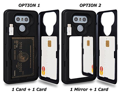 LG G6 Case / LG G6 Plus Case, TORU [Slim Hard Wallet Case] Dual Layer  Hidden Credit Card Holder ID Slot Card Case with Mirror and USB Adapter for  LG
