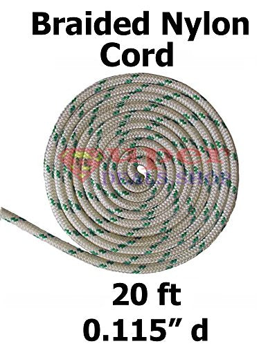 20 Ft Nylon Cord Line Rope, Replacement Cord For Patio Umbrella, String  Green Dot