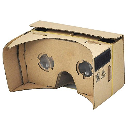 Yaheetech Google Inspired Cardboard Kit with Straps HD Visual Experience 3D Virtual Reality Compatible W/Android & Apple Easy Setup