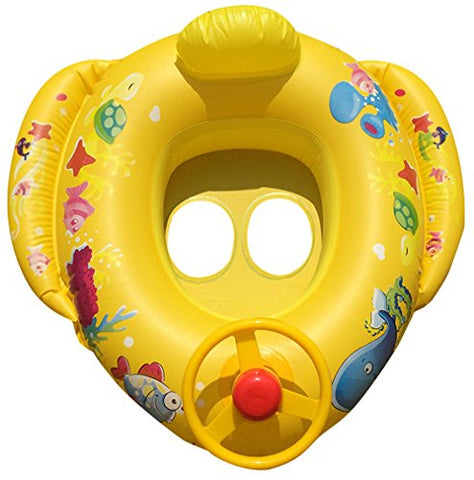 Float Seat Boat Baby Ring Pool Swim Inflatable Swimming Safe Raft Kid Water Car by Dressffe