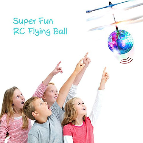RC Flying ball - Bdwing RC infrared Induction Helicopter Ball Built-in Shinning LED Lighting, RC Flying Toy for Kids, Adults
