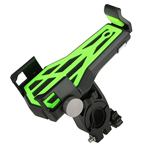 Vbestlife Bike Phone Mount, Bicycle Motorcycle Handlebar Phone Holder Handlebar Clip Stand Support with 360° Rotation for 3.6-6.2inch iPhone Android Smartphones GPS Other Devices(Green)