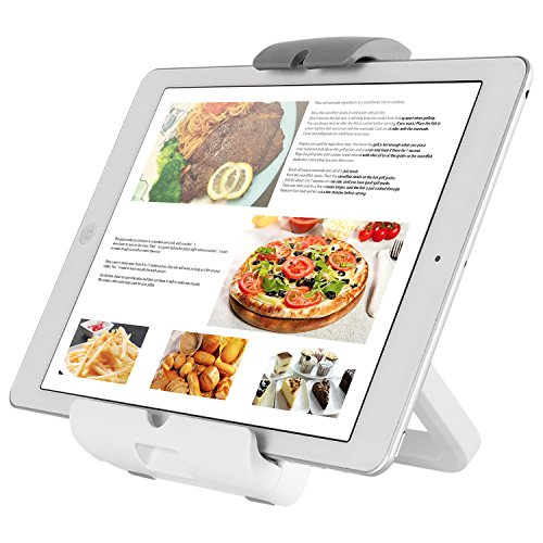 Astonishing 4 In 1 Tablet Mount Holder For Kitchen Countertop Wall Tabletop Fridge Tablet Mount Bracket Recipe Holder Stand For 7 To 10 1 Inch Tablet Home Interior And Landscaping Palasignezvosmurscom