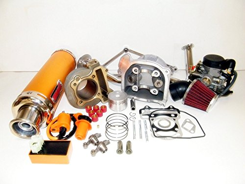 100cc Big Bore Kit Performance Power Pack Gold Exhaust Chinese Scooter Parts