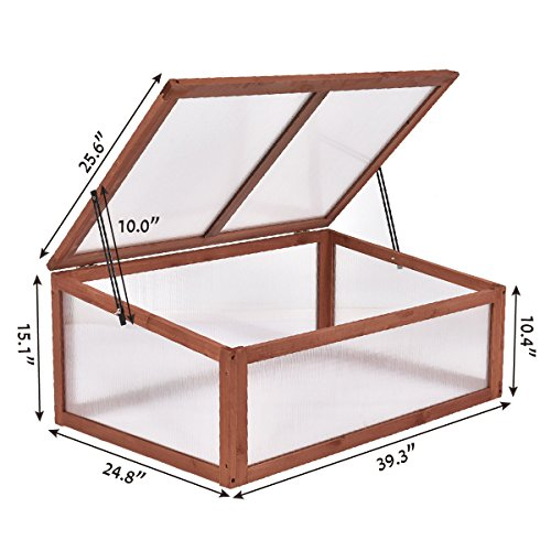 Maximumstore Garden Portable Wooden Green House Cold Frame Raised ...