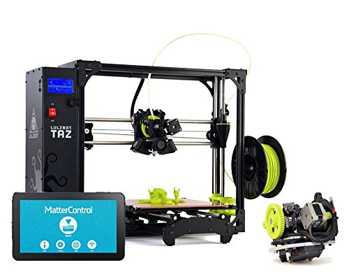 Lulzbot Taz 6 Platinum Package with Dual Extruder Upgrade and MatterControl Touch Standalone 3D Printer Controller