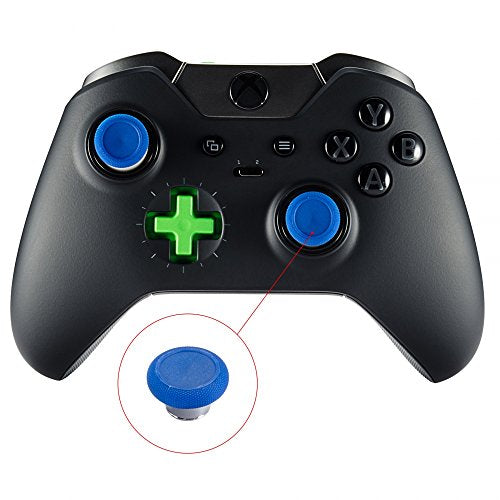 eXtremeRate 4 in 1 Metal Magnetic Thumbsticks Analogue Joysticks With T8H Cross Screwdrivers Replacement Repair Kits for Xbox One S Elite PS4 Slim Pro Nintendo Switch Pro Controller Blue