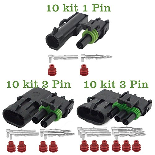 HIFROM 10 kits 20-14 AWG Waterproof Electrical Wire Cable Connector on