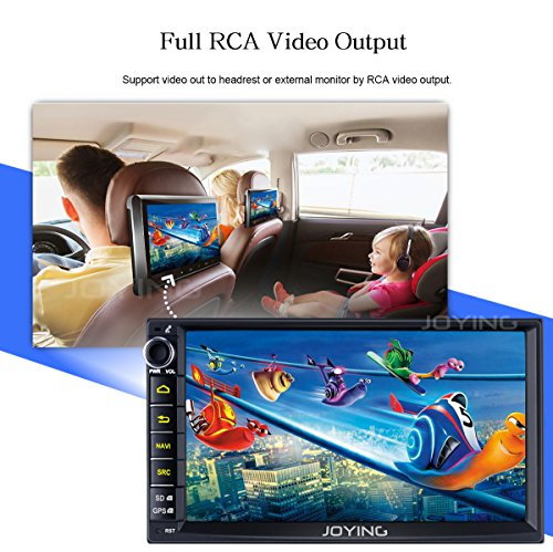 JOYING 7 Car Stereo 4GB 32GB Android 6 0 Head Unit Double Din with Octa  Core Bluetooth 4 2 iPhone Zlink & Phone Mirroring - Supprot Audio & Video  Out