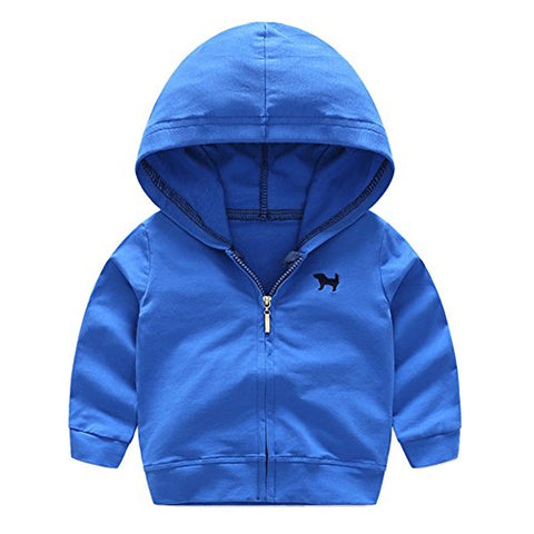 MiyaSudy Baby Boys Girls Sport Jacket Toddlers Hooded Outerwear Coat