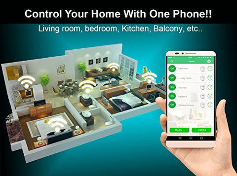 Wifi Smart Switch Diy Home Automation 2pack Home Appliances Home Controls Smart Home Devices Voice Control Compatible with Alexa Google Home Smart timing Remote Control Energy Efficient Automatico