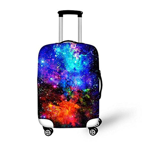 Dbtxwd Suitcase Protective Cover 3D Colorful stars Wear-resisting High Elastic force Scratch-resistant Travel Luggage Cover 18-30 inch , 3 , s