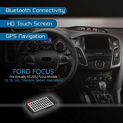 2012 Ford Focus Dashboard Stereo Receiver System Gps Navigation Bluetooth Wireless Cd Dvd Player 8 Hd Touchscreen Display Am Fm Radio