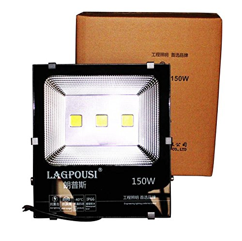 lagpousi 150W Super Bright Outdoor LED Spotlight Lights,750W Halogen Bulb Equivalent,Waterproof IP66 15000lm,OSRAM LED Chip, Angle of 120 degrees,6000K White,Garden lights,Flood light ,floodlight