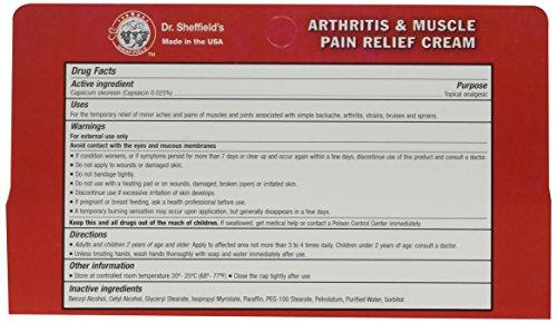 Dr  Sheffield's THERMA-RUB Arthritis and Muscle Pain Relief Cream, 1 5 oz   Tube (2-Pack)