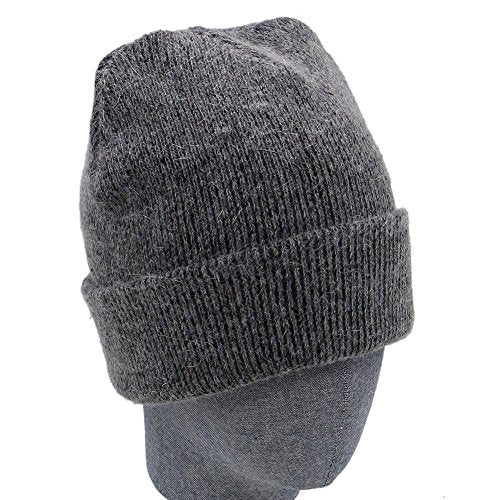 3a88fa9fcff Hiloving Autumn and Winter Warm Outdoor Double Thick Wool Mens Beanie Hat  Cap (Dark Grey