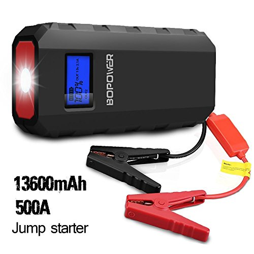 [Black Friday Deal] BOPOWER 500A Peak 13600mAh Portable Car Jump Starter Battery Booster and Phone Power Bank