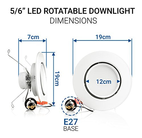 Fabulous Hyperikon 6 Inch Led Rotatable Gimbal Downlight 5 Inch Compatible Wiring Digital Resources Arguphilshebarightsorg