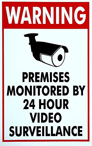 "1 Pc Indefectible Popular Security Signs Coroplast Lawn Video Surveillance Recording Warning Size 7"" x 11"""