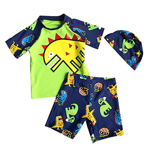 Baby Toddler Boy Two Pieces Swimsuit Set Kid Swimwear Bathing Suit UPF 50+ 2,cute monster design, S.