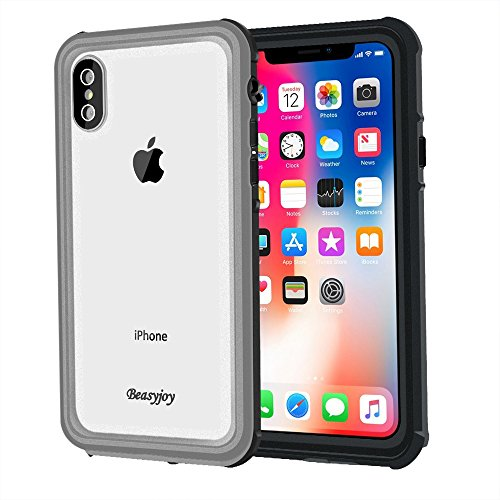 low priced 9fd91 feca3 Iphone X Case Waterproof with Screen Full Body Protection,Beasyjoy Rugged  Transparent Clear and Slim Thin Cover Hard Strong Plastic Bumper Shockproof  ...