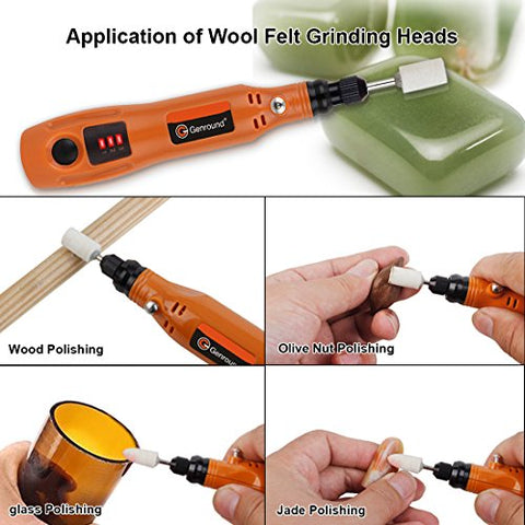 Rotary Tools, Genround 23pcs Electric Rotary Tools Accessories, 3-Speed Cordless Rotary Tool Kit + Grinding Tool + Rotary Cutting Tool + Sanding Bands + Brush + Hand Drill Bits + Collet + USB Cable
