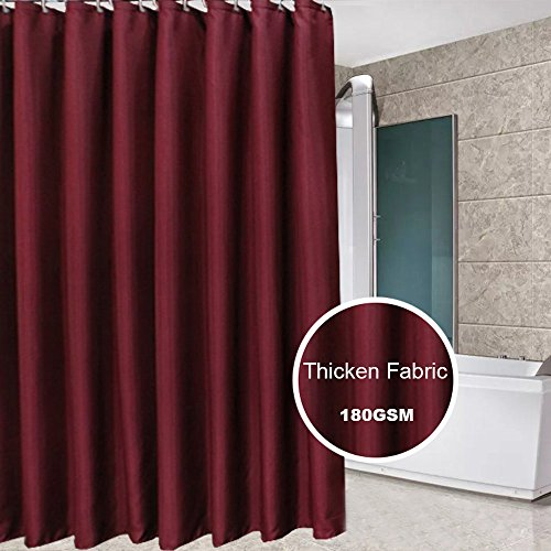 Eforcurtain Large Size 72 Inch Width By 86 Length Shower Curtain Microfiber Mildew Repellent Water