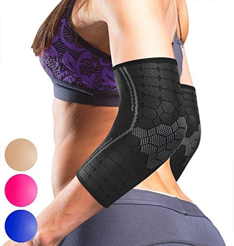Elbow Compression Sleeve By Sparthos Pair Tendonitis Elbow Brace