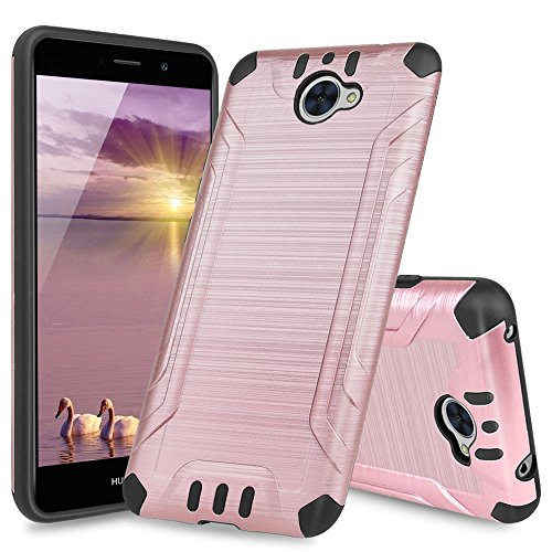 Huawei Ascend XT2 Case, Huawei Elate 4G Case, Huawei H1711 Case, TJS Dual  Layer Hybrid Shockproof Impact Resist Rugged Protection Case Cover Metallic