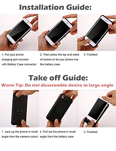 iPhone 6s Battery Case, iPhone 7 Battery Case, TITACUTE 2850mAh Slim Fit  Shockproof Protective Case iPhone 6 Extended Battery Charger Cover Charging