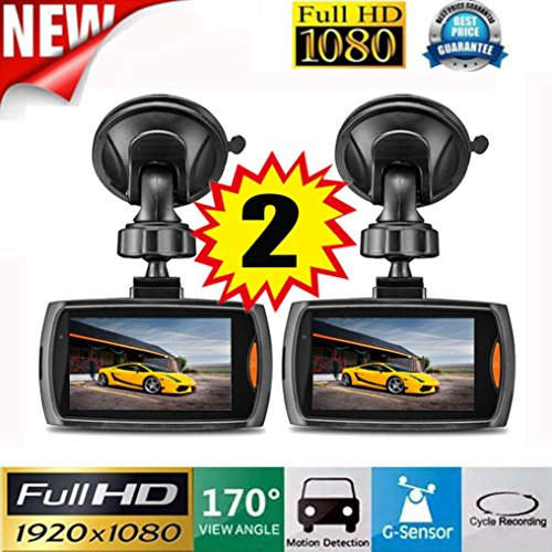 "OVERMAL 2x Car 1080P 2.2"" Full HD DVR Vehicle Camera Dash Cam Video Recorder G-sensor Night Vision"