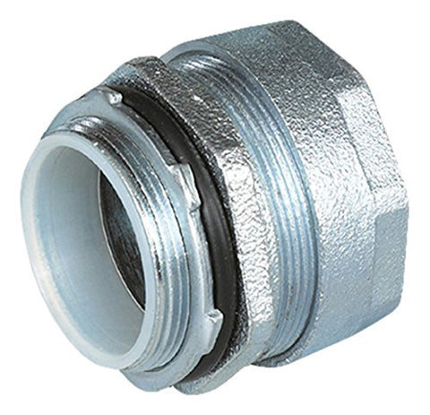 "O-Z/Gedney 4Q-200T 4Q Straight Liquid Tight Connector, Insulated Throat, 2"" Trade Size, 2.13"" Length, Malleable Iron"