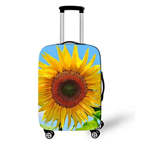 Dbtxwd Suitcase Protective Cover 3D Yellow flowers Dustproof Scratch-resistant Creative Travel Luggage Cover 18-28 inch , 4 , l