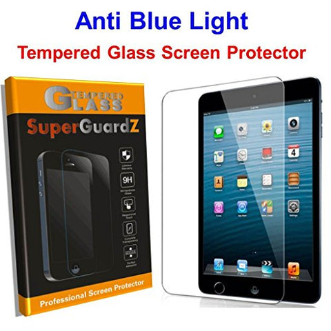 [2-PACK] iPad Pro 10.5 (2017) Screen Protector Tempered Glass Anti Blue Light [Eye Protection], SuperGuardZ, 9H, Anti-Chip Edge, Shatterproof [Lifetime Replacement]
