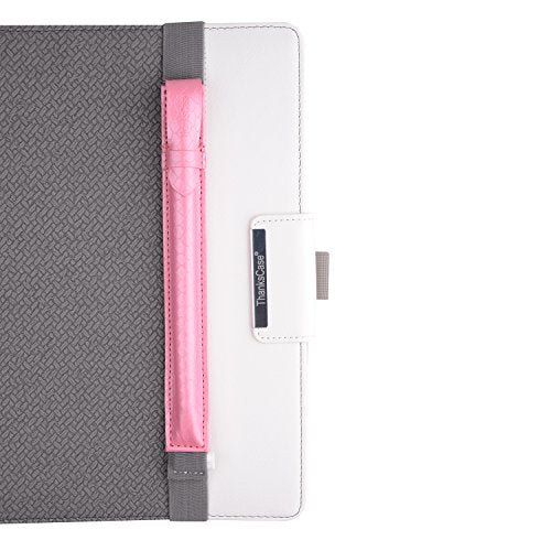 Thankscase Pencil Holder with USB Adapter Pocket for Apple Pencil, PU Leather Case Sleeve Detachable Pouch Cover, Compatible with iPad Pro Tablet Cases & iPad 9.7 2018 Tablet Cases (Pink Weave)