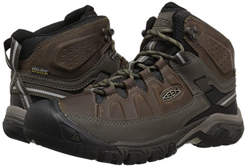 5d493e59c575f KEEN Men's Targhee III Mid Leather WP-m Hiking Boot, Bungee Cord/Black, 9 M  US