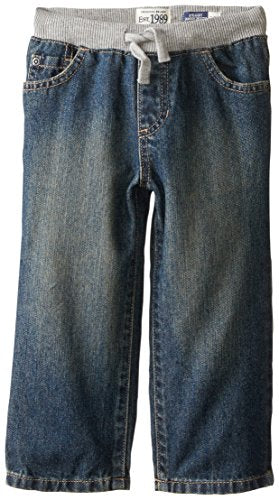 The Children's Place Little Boys and Toddler Pull-On Jean, Aged Stone, 5T