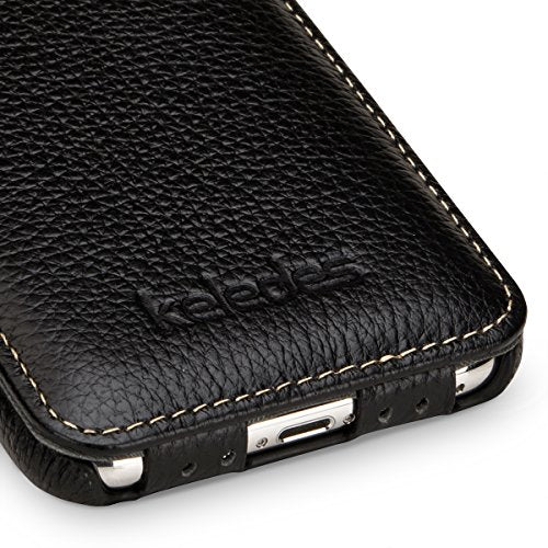 outlet store d2d0d be07b iPhone X Flip Case Leather,iPhone X Genuine Leather Cover Up Down Case Flip  Down case,Keledes iPhone X Real Leather Vertical Flip Cover Slim ...