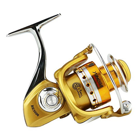 Sports - BE2000-5000 5.5:1 12+1BB Gapless Full Metal Spinning Reel Left\/Right Hand Sea Fishing Reel - 3000