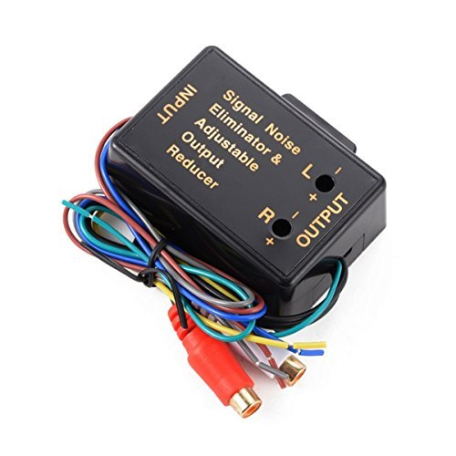 2 Channel HI / LOW Level Converter High Level Speaker Output to RCA Line  Level Adapter