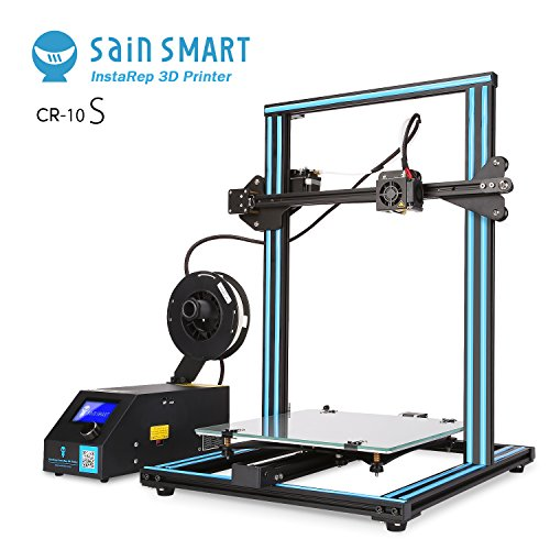 "SainSmart x Creality CR-10S 3D Printer, Resume Printing, Filament Detector, Semi-Assembled, Dual-Z Motors, 11.8""x11.8""x15.8"""
