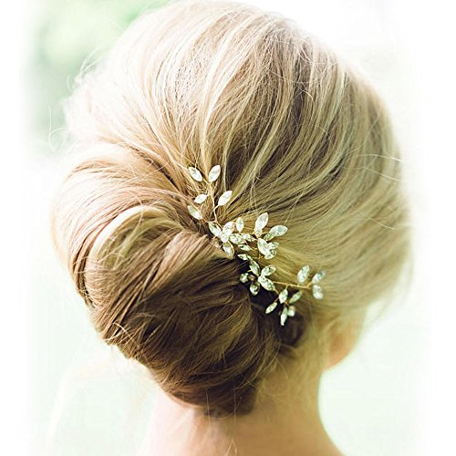 Venusvi Wedding Hair Pin Set Hair Accessories for Bridal(Pack of Two)