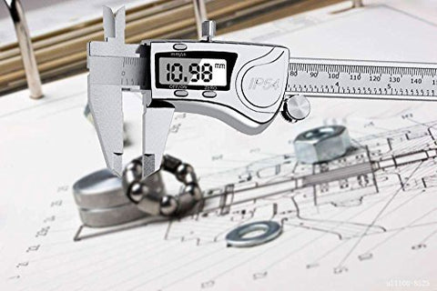 APG Digital Caliper Stainless Steel with LCD Screen, Accurate Metric Inch Conversion Electronic Vernier Caliper Tools for Pearl Jewelry & Accessories Precision Measurement - Waterproof,150 mm,6 Inch