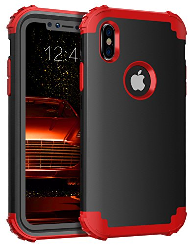 buy popular bde83 98d9a iPhone X Case,iPhone 10 Case,BENTOBEN Drop Protection 3 in 1 Rugged PC Soft  Silicone Bumper Anti-scratch Shockproof Protective Phone Case Cover for ...