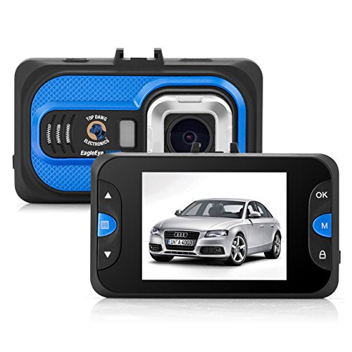 Top Dawg Eagle Eye 1080P DVR Dash Camera with G-Sensor & 8 GB SD
