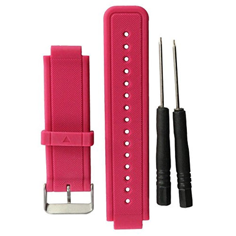 Replacement band for Garmin Vivoactive, Eway Pink Silicone Replacement Fitness Bands Wristbands with Two Screw Drivers for Garmin vivoactive GPS Smart Watch