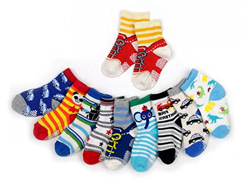 12 Pairs Baby Boy Socks With Grips 12 24 Months Toddler Infant Ankle